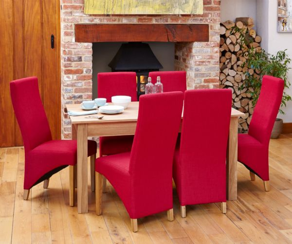 Mobel Oak Large Dining Table | 6 Seater Dining Table | Solid Wood Table